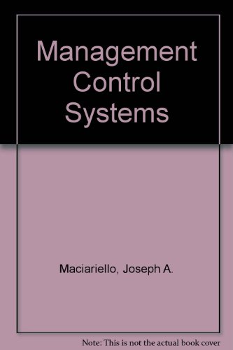 9780135496350: Management Control Systems