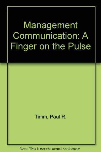 9780135500057: Management Communication: A Finger on the Pulse