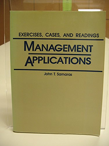 9780135500484: Management Applications: Exercises, Cases, and Readings
