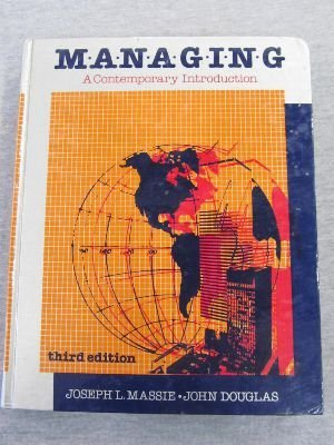 9780135503270: Managing: A Contemporary Introduction