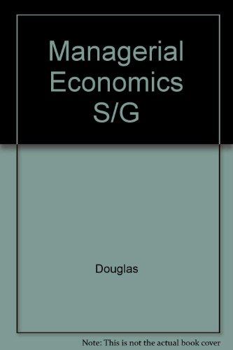 9780135509227: Managerial Economics S/G