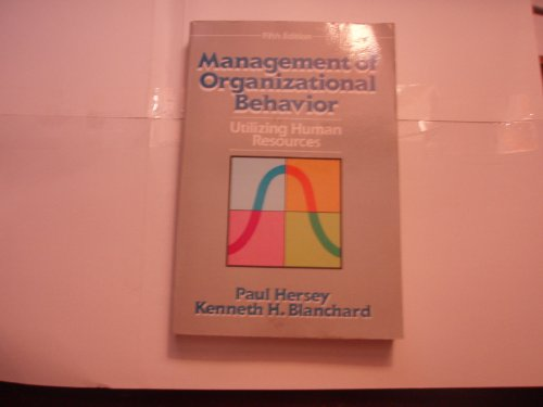 9780135512500: Management of Organizational Behavior: Utilizing Human Resources