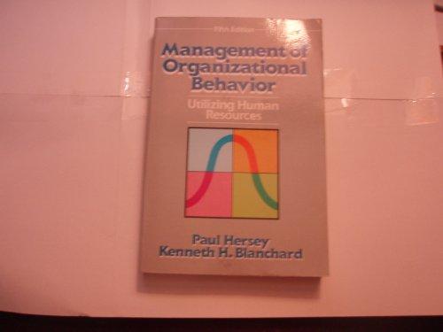 9780135512500: Management of Organizational Behavior: Utilizing Human Resources