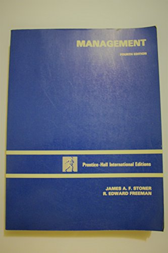 management by stoner freeman and gilbert Retains the solid research based approach of earlier edition, while addressing the challenges facing managers in the 21st century synopsis may belong to another edition of this title.