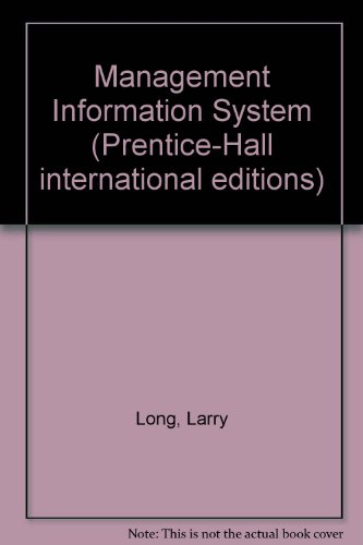 9780135516980: Management Information System (Prentice-Hall international editions)