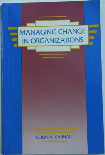 9780135518625: Managing Change in Organisations
