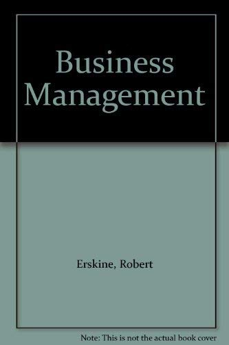 Business Management.: Erskine, Robert