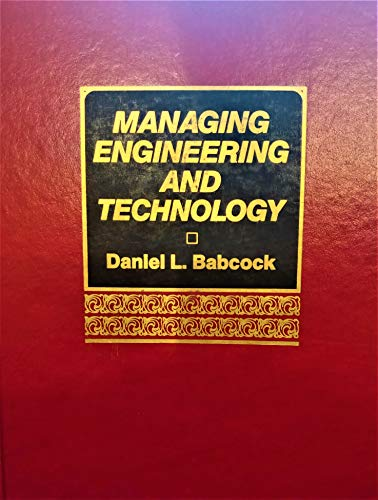 9780135522332: Managing Engineering and Technology: An Introduction to Management for Engineers (Prentice Hall International Series in Industrial and Systems Engin)