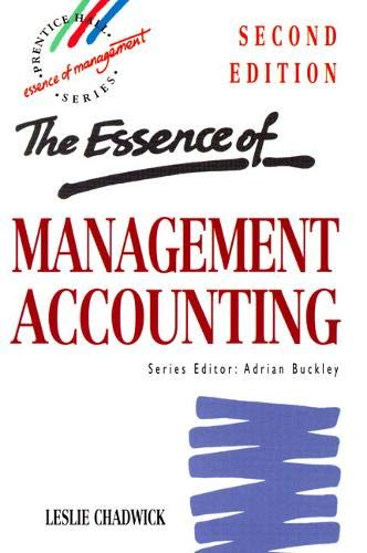 9780135523407: The Essence of Management Accounting (2nd Edition)