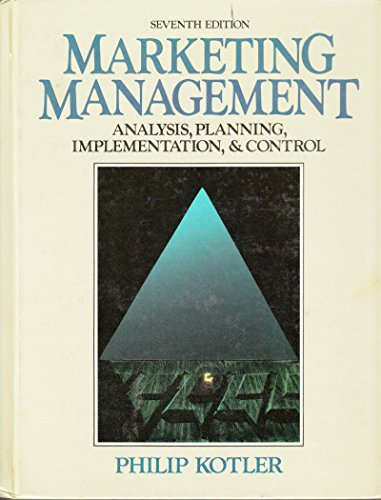 9780135524800: Marketing Management: Analysis, Planning, Implementation, and Control