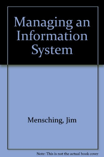 9780135531815: Managing an Information System