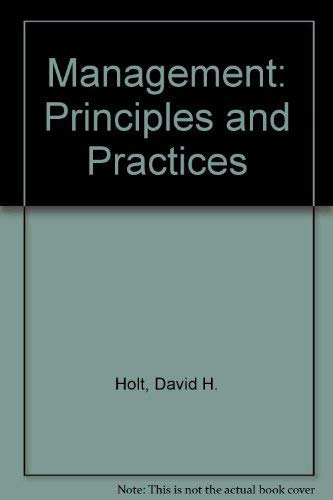 9780135539347: Management: Principles and Practice