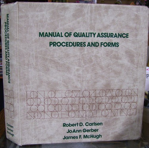 9780135540060: Manual of Quality Assurance Procedures and Forms