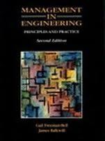 9780135540237: Management in Engineering: Principles and Practice