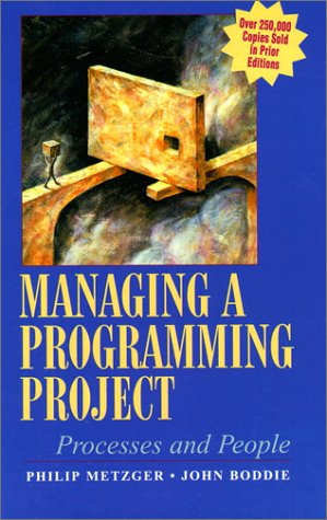 9780135542392: Managing A Programming Project: Processes and People (3rd Edition)