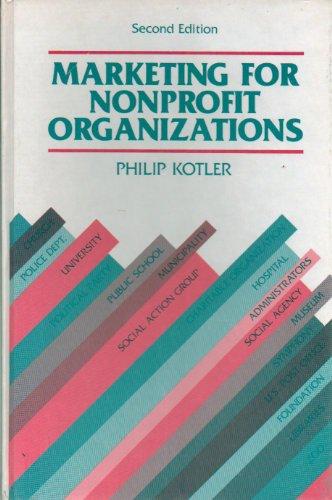 9780135561423: Marketing for Non-profit Organizations (The Prentice-Hall series in marketing)