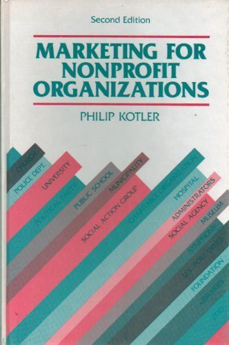 9780135561423: Marketing for Non-profit Organizations (The Prentice-Hall series in marketing)