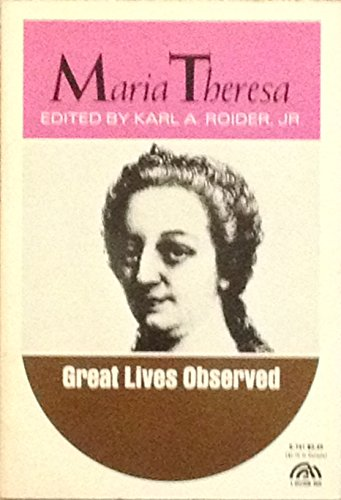 9780135561911: Maria Theresa (Great Lives Observed)
