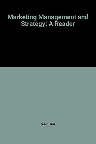9780135573655: Marketing Management and Strategy: A Reader