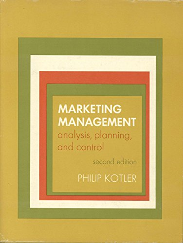 9780135573891: Marketing Management: Analysis, Planning, and Control