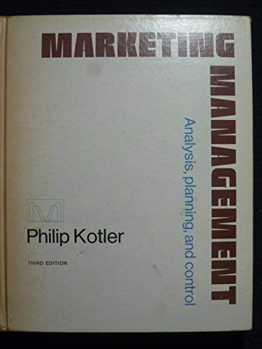 9780135579596: Marketing Management: Analysis, Planning and Control