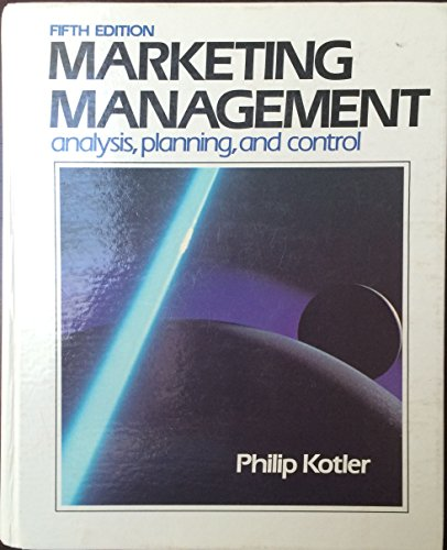 Marketing Mamagement Analysis, Planning, and Control: Kotler, P