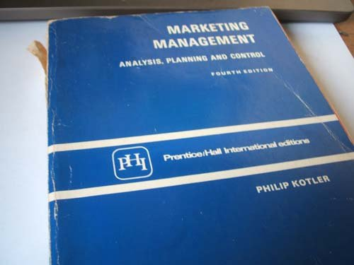 9780135579831: Marketing Management: Analysis, Planning and Control