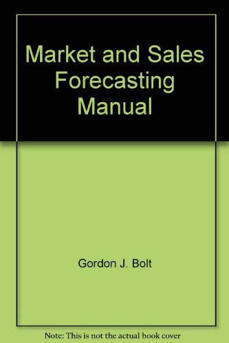 9780135581896: Market and Sales Forecasting Manual