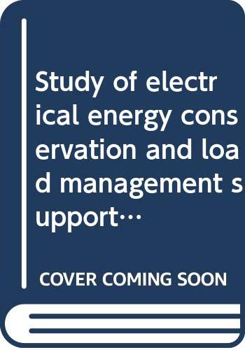 9780135586853: Study of electrical energy conservation and load management support levels in New Hampshire's business community