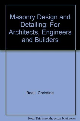 9780135591536: Masonry Design and Detailing: For Architects, Engineers and Builders