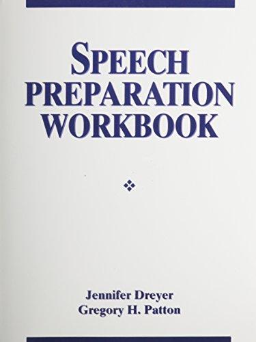 9780135595695: Speech Preparation Workbook