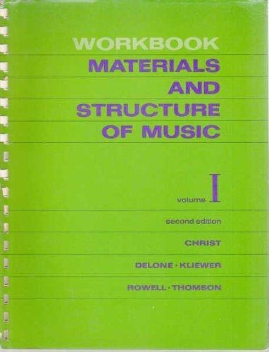 9780135603598: Materials and structure of music