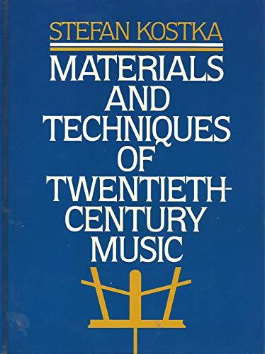 9780135608302: Materials and Techniques of Twentieth Century Music