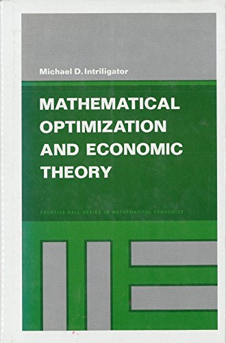 9780135617533: Mathematical Optimization and Economic Theory (Prentice-Hall series in mathematical economics)