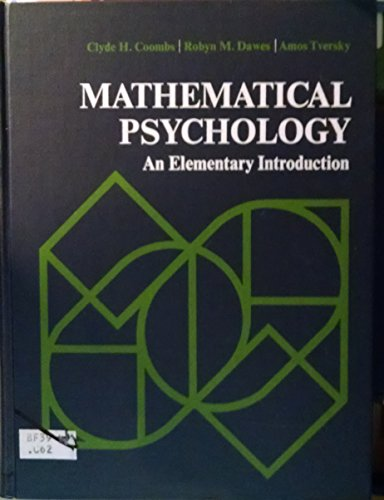 Mathematical psychology;: An elementary introduction (Prentice-Hall series in mathematical ...