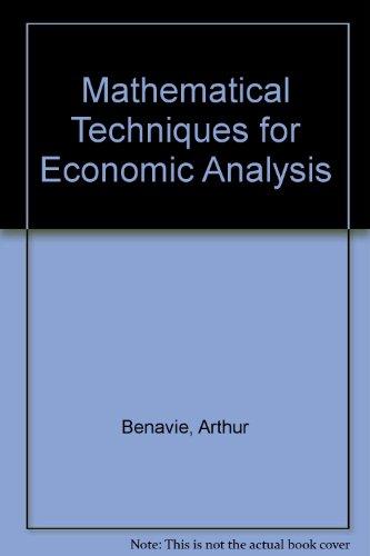 9780135622728: Mathematical Techniques for Economic Analysis (Prentice-Hall series in mathematical economics)