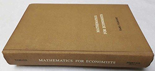 Mathematics for economists : an elementary survey: Yamane, Taro