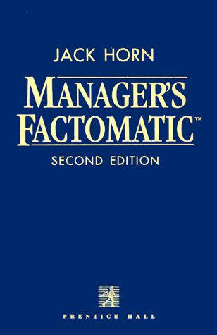9780135629277: Manager's Factomatic Second Edition