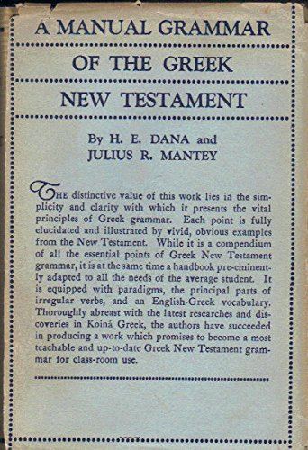 9780135629765: Manual Grammar of the Greek New Testament: With Index