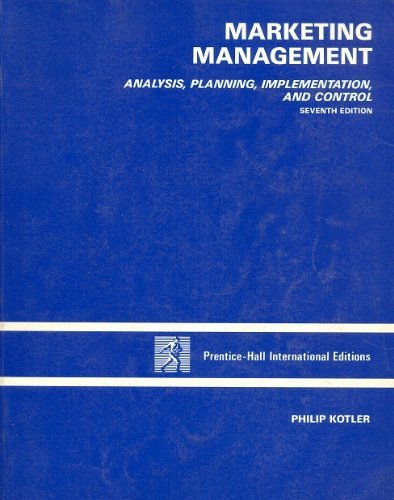 9780135634790: Marketing Management: Analysis, Planning, Implementation and Control