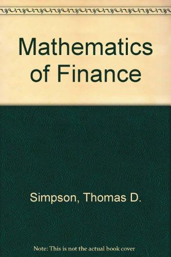 9780135650363: Mathematics of Finance