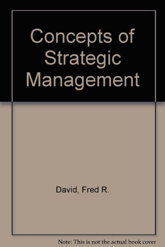 9780135654668: Concepts of Strategic Management