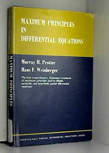 9780135663158: Maximum Principles in Differential Equations