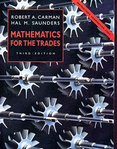 9780135665305: Mathematics for the Trades: A Guided Approach/Teacher's Edition