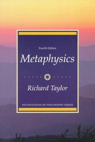 9780135678190: Metaphysics, 4th Edition