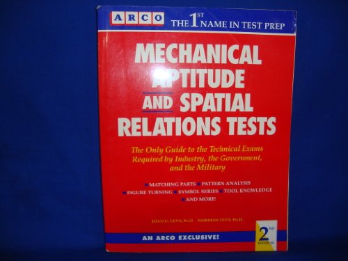 9780135686928: Mechanical Aptitude and Spatial Relations Tests (Arco Academic Test Preparation Series)