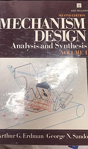 9780135698723: Mechanism Design: Analysis and Synthesis/Diskette, Volume 1