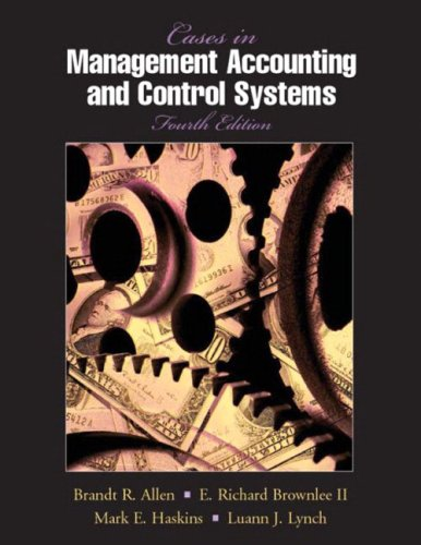 9780135704257: Cases in Management Accounting and Control Systems (4th Edition)