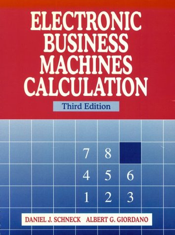 9780135718032: Electronic Business Machines Calculation