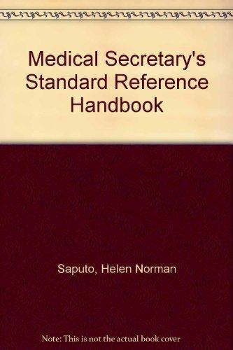 9780135729410: Medical Secretary's Standard Reference Handbook